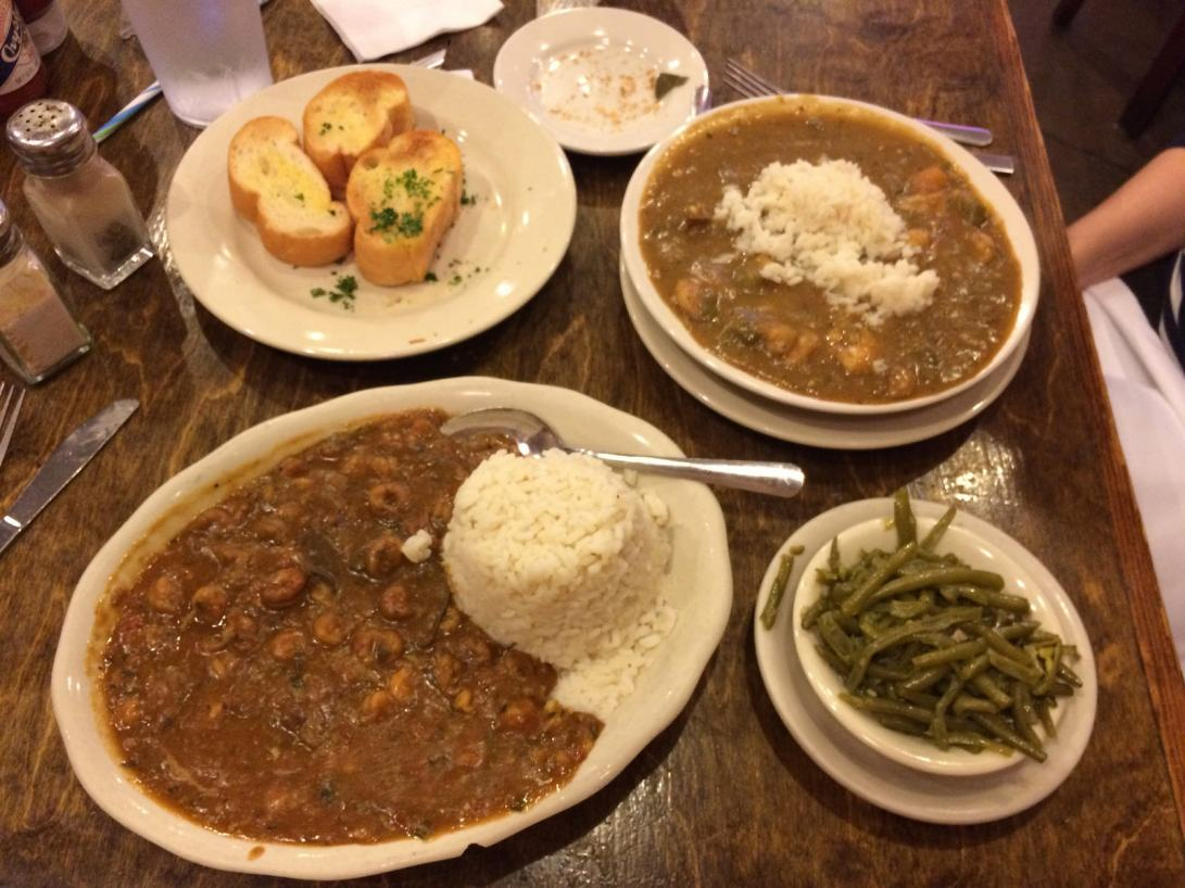 etoufee and gumbo at Mandina's